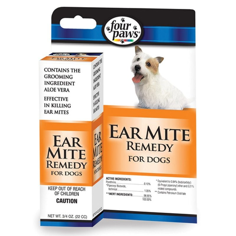 Four Paws Ear Mite Remedy for Dogs