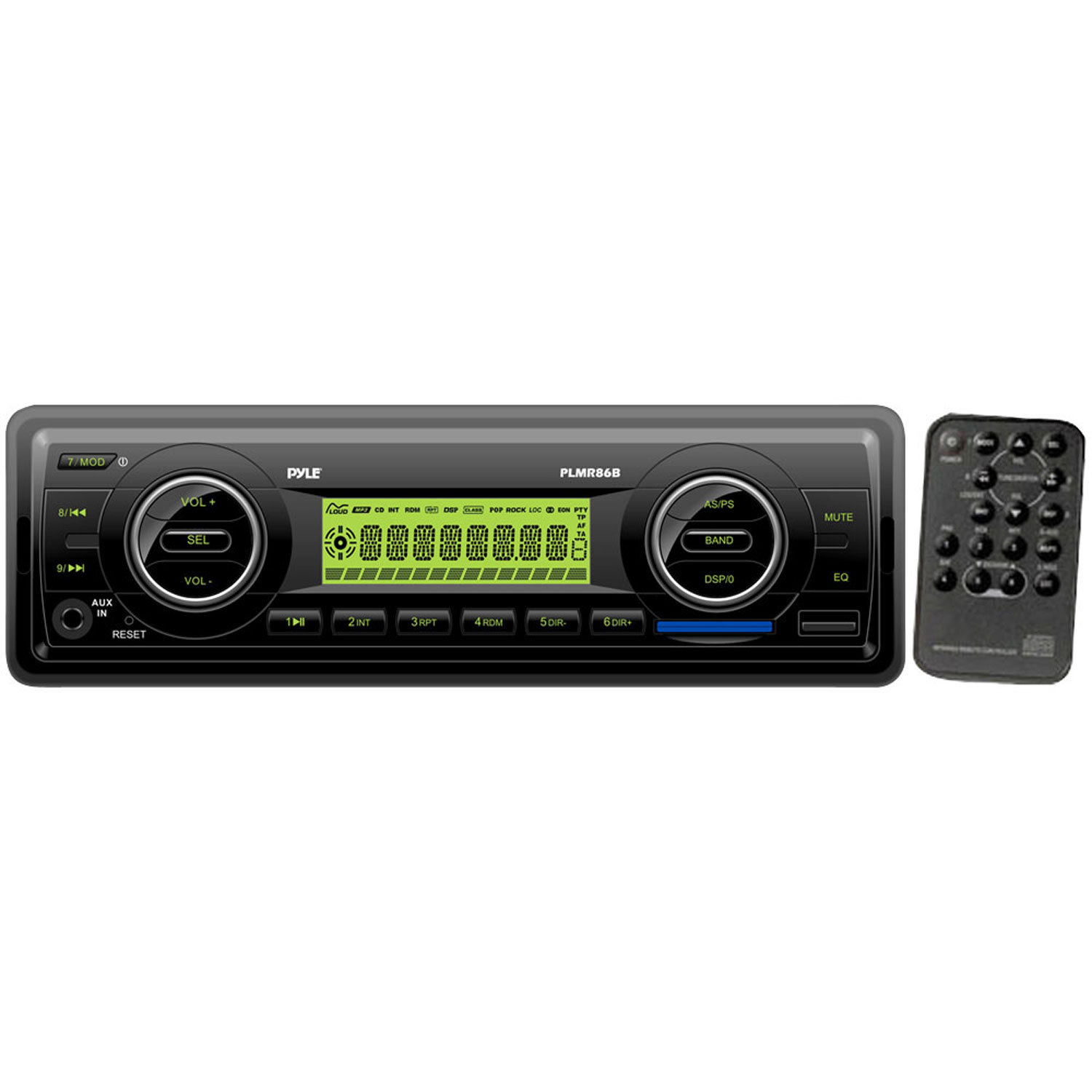 Pyle AM FM-MPX Electronic Tunning Radio w USB SD MMC (BLACK COLOR UNIT) by Pyle