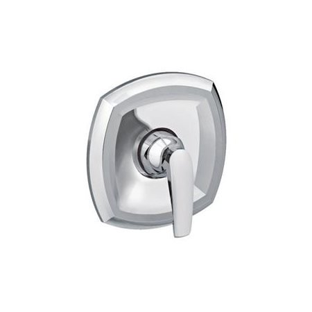 American Standard T005500.002 Copeland Single Handle Valve Trim with Metal Lever Handle and Wall Escutcheon - Polished Chrome