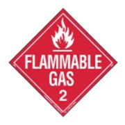 LABELMASTER 35ZL61 Flammable Gas Placard,10-3/4inx10-3/4in G1827607
