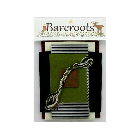 Bareroots Fabric&Floss Kit Naughty Or Nice Pillow ()