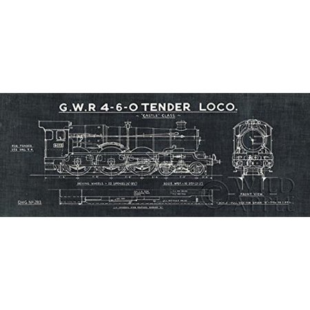 Tra blueprint iii black 20x8 art print poster locomotive gwr 4 6 0 tra blueprint iii black 20x8 art print poster locomotive gwr 4 6 0 tender malvernweather Gallery