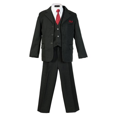 Avery Hill Boys Pinstripe Suit Set with Matching -