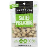 Snak Club Salted Pistachios, 2.25 oz