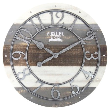 FirsTime Shabby Wood 16 in. Wall Clock