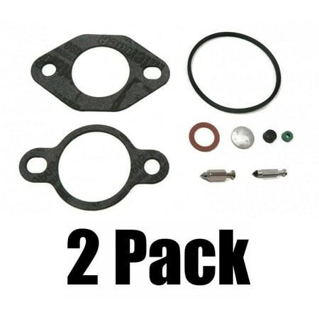 Bowl Seal Kit - (2) CARBURETOR KITS include Air Cleaner Fuel Bowl Screw Gasket Valve Seal Plug