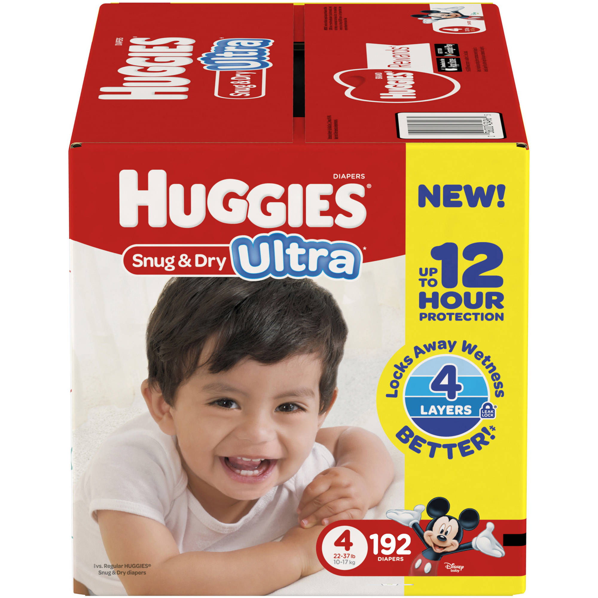 HUGGIES Snug & Dry Ultra, Size 4 (Choose Diaper Count)