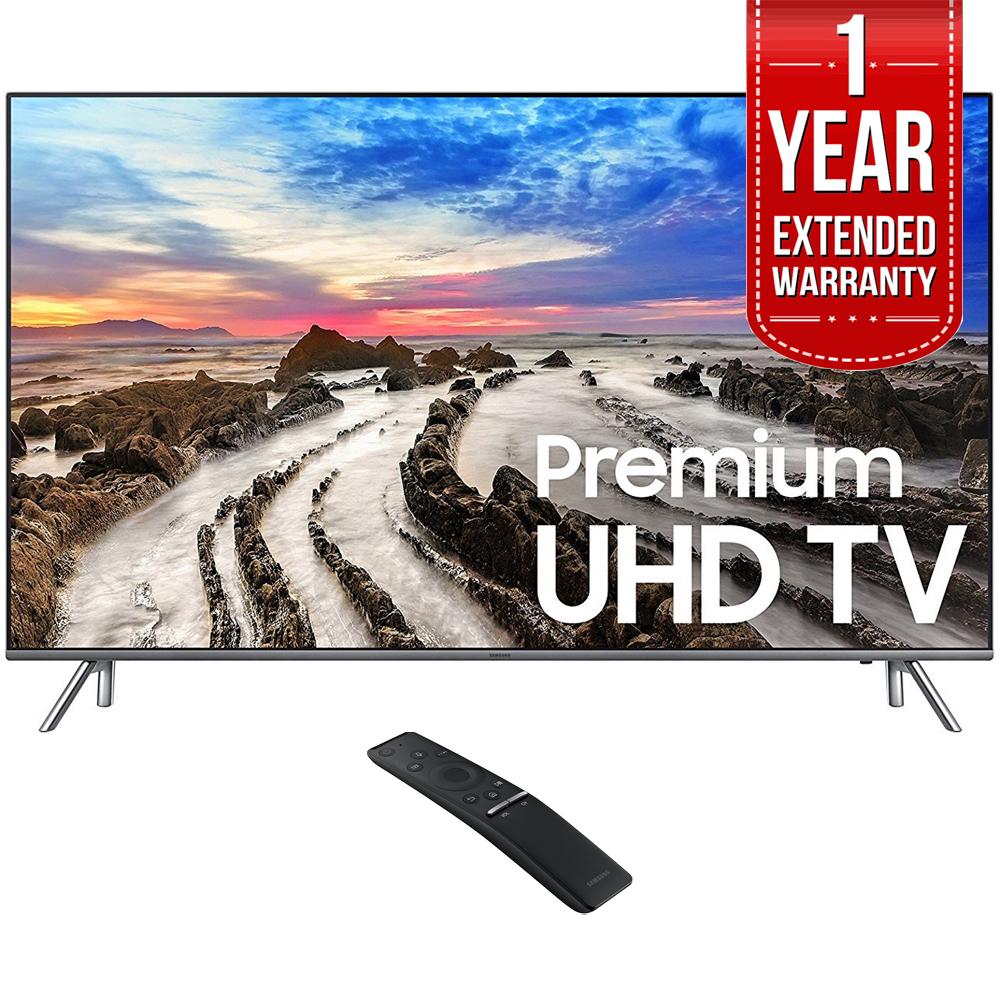 Samsung UN82MU8000 82-Inch UHD 4K HDR LED Smart HDTV (2017 Model) w  1 Year Extended Warranty by Samsung