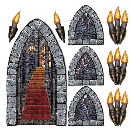 Stairway Window Torch Props Halloween Decoration