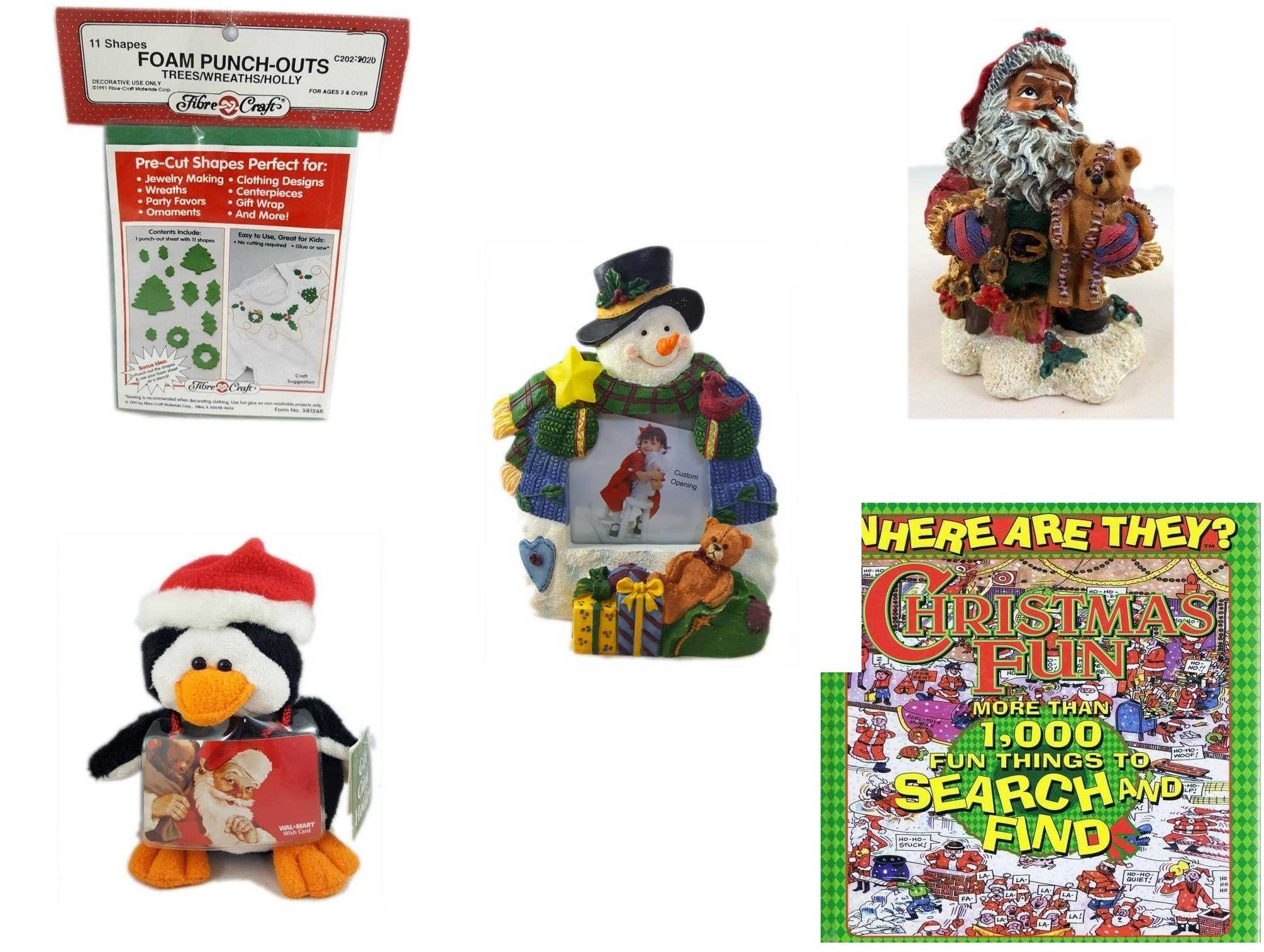Christmas Fun Gift Bundle  Shapes Foam Punch Outs Trees