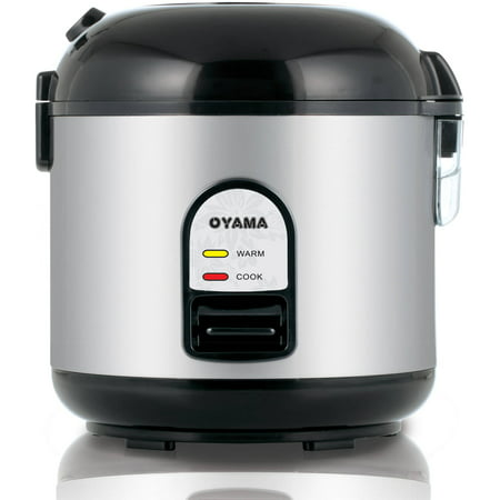 Oyama 5-Cup All Stainless-Steel Rice Cooker/Steamer/Warmer, Black