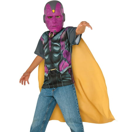 Rubie's Costume Captain America Civil War Vision Child Top and Mask Large](Civil War Outfits)