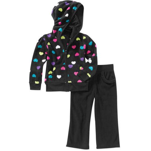 Garanimals Baby Girls' 2-Piece Fleece Hoodie and Pant Set