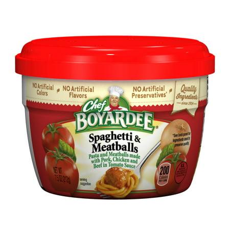Chef Boyardee Spaghetti & Meatballs in Tomato Sauce, 7.5 Oz.