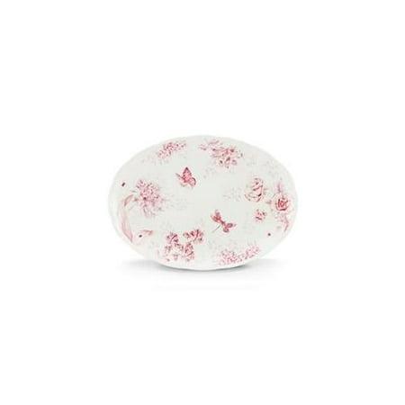 Lenox Butterfly Meadow Oval Platter, Toile Pink