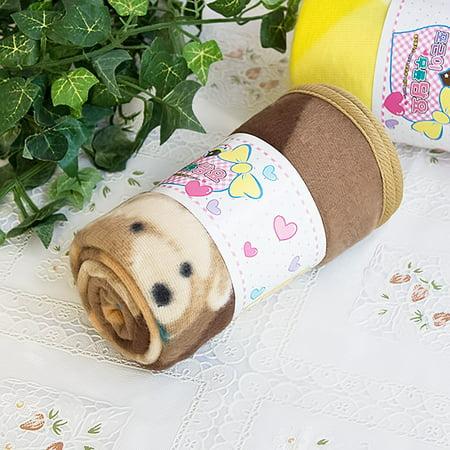 Teddy Bear - Brown Korean Coral Fleece Mini Baby Throw Blanket (27.6