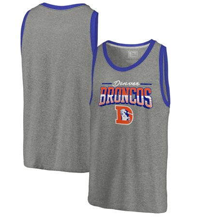 Nfl Autographed Throwback Jersey - Denver Broncos NFL Pro Line by Fanatics Branded Throwback Collection Season Ticket Tri-Blend Tank Top - Heathered Gray