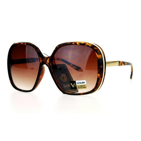 VG Eyewear Elegant Designer Fashion Diva Butterfly Sunglasses Tortoise ()