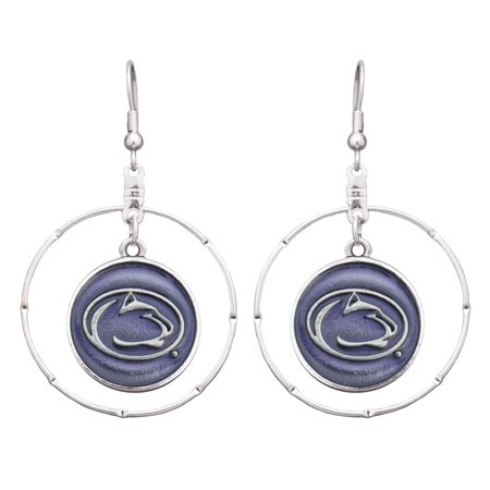 Penn State Nittany Lions Women's Iridescent Logo Hoop Earrings - Silver - No Size