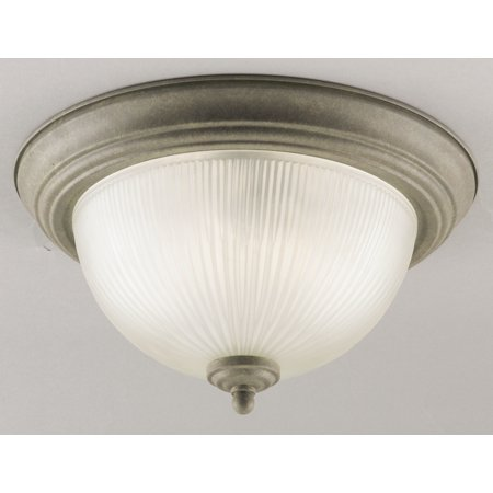 Westinghouse 64361 1-Light Ceiling Fixture Featuring Frosted Ribbed Glass Dome