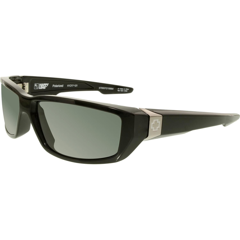 Spy Men's Polarized Dirty Mo 670937215864 Black Rectangle Sunglasses