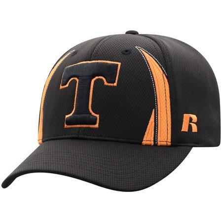 Tennessee Volunteers Hat (Men's Russell Athletic Black Tennessee Volunteers React Adjustable Hat -)