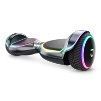 Jetson Magma UL Certified Hoverboard w/ LED light up deck and wheels, Extreme Terrain Wheels, Black