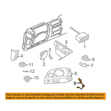 jeep chrysler oem 03 06 wrangler stereo audio radio wire. Black Bedroom Furniture Sets. Home Design Ideas