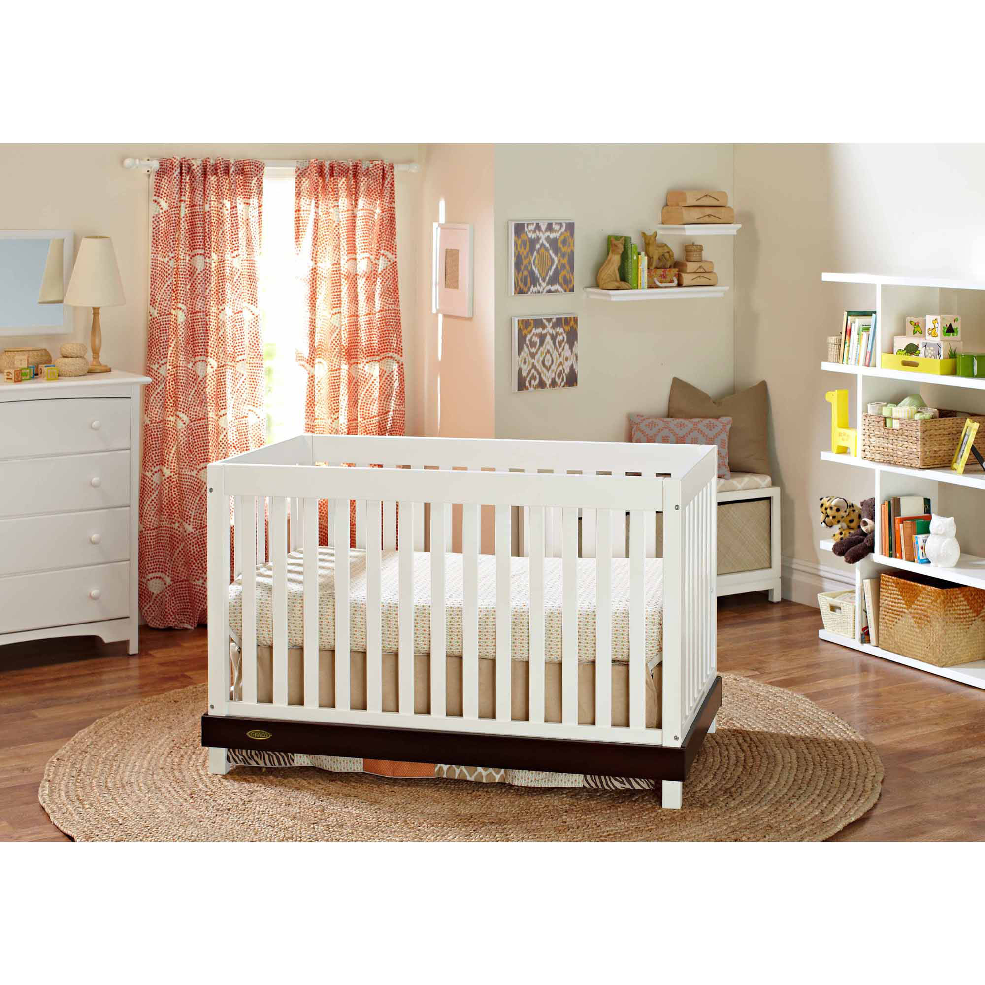 Graco Maddox 4-in-1 Convertible Crib, Multiple Colors