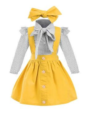 Lavaport 3Pcs/set Kid Girls Summer Cotton Blend Polka Dot Print Shirt + Strap Skirt + Headband Cute Girls Clothes Outfits