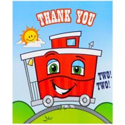 Two-Two Train 2nd Birthday Thank-You Notes, 8pk