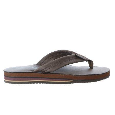 47d91d7fe92f9 Rainbow Sandals - Rainbow Sandals Double Layer Leather Flip Flop Thong  Sandal - Mens - Walmart.com