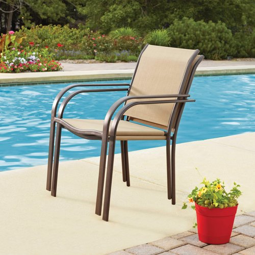 Mainstays Stacking Chair, Dune