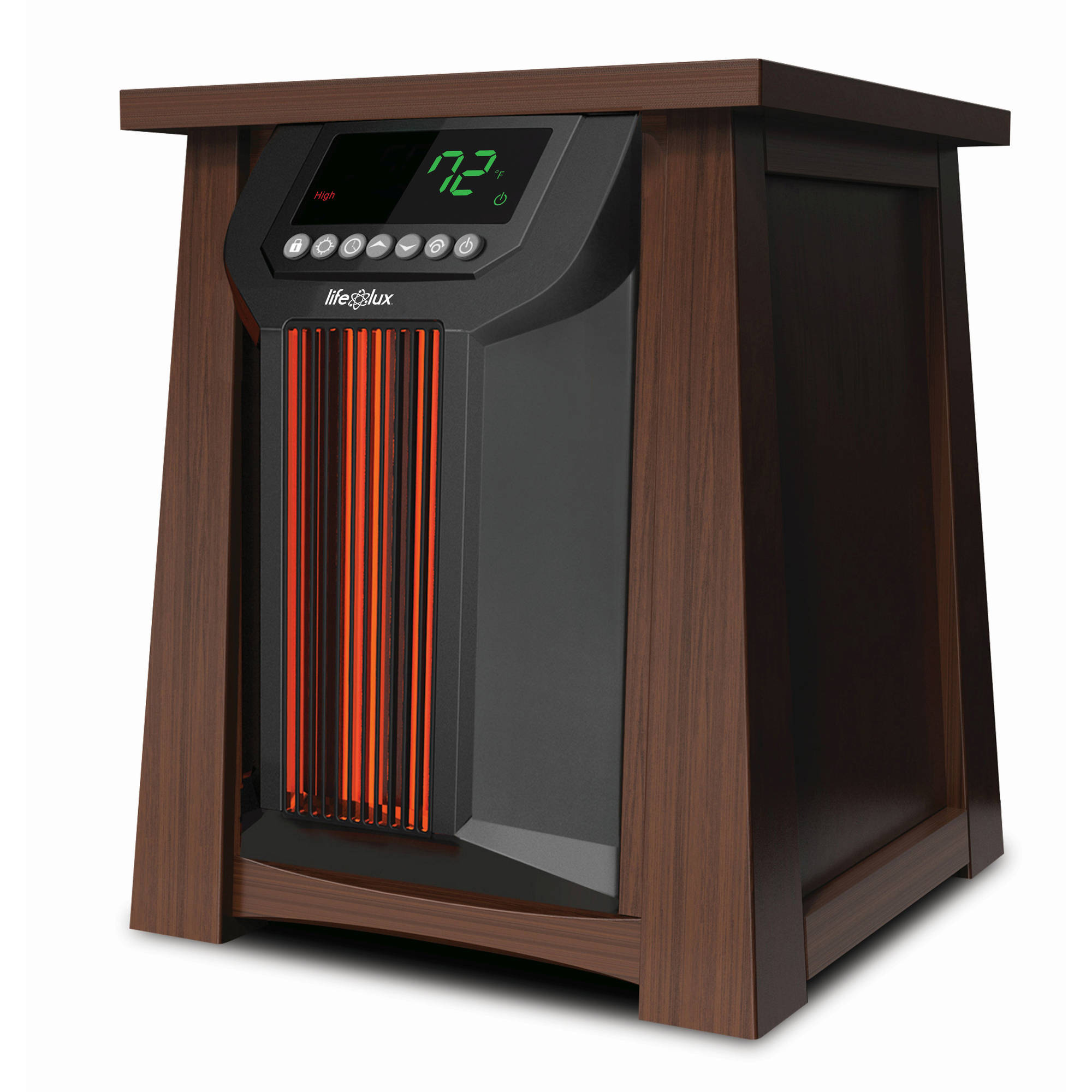 Lifelux Infrared Electric Heater, Wood