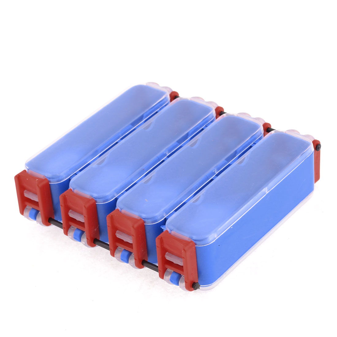 Unique Bargains Double Sides 8 Compartments Fishing Tackle Box Hook Lure Case by