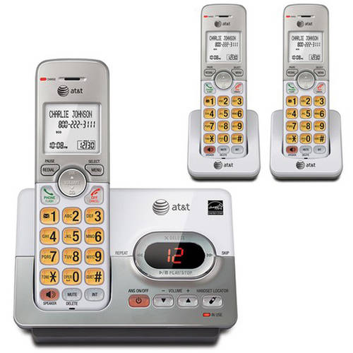 AT&T EL52303 DECT 6.0 3-Handset Cordless Answering System with Caller ID/Call Waiting