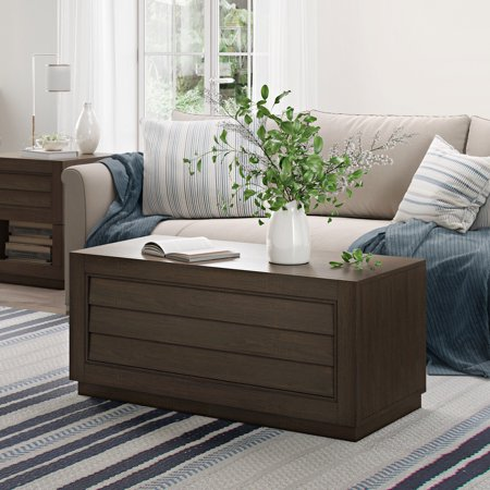 - Better Homes & Gardens Ellis Shutter Coffee Table with Louvered, Shutter Front Dark Oak Finish