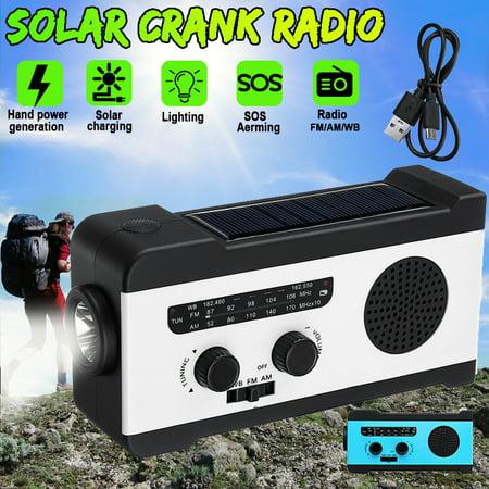 Portable Multifunctional AM/FM/WB Radio Pocket Speakers Solar Hand Crank Radio
