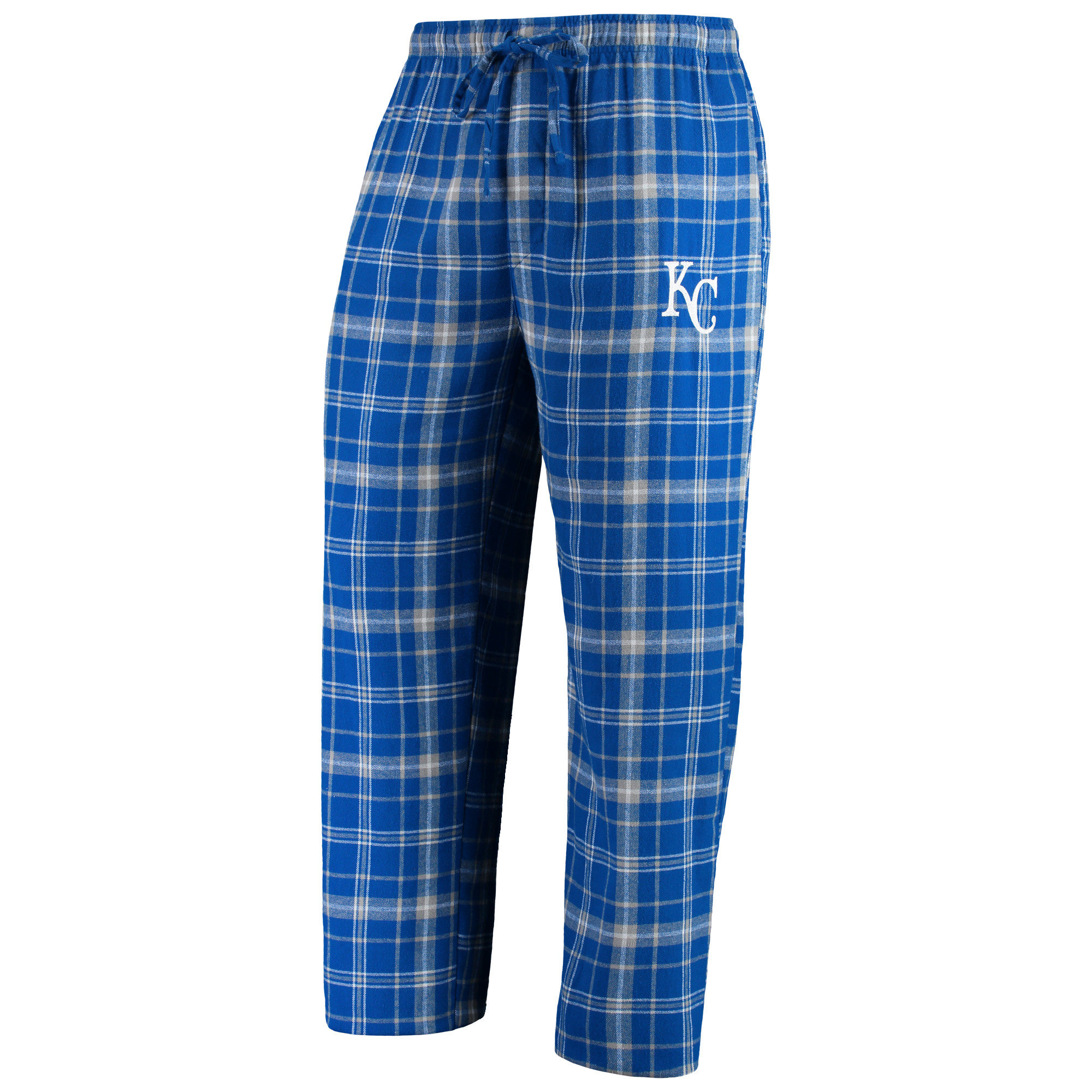 Kansas City Royals Concepts Sport Team Ultimate Plaid Flannel Pants - Royal/Gray