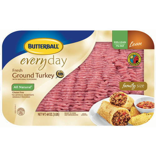 Butterball 93% Lean/7% Fat Fresh Ground Turkey, 3.0 lb