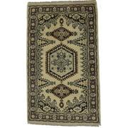 Beige Indo Viss 3X5 Oriental Area Rug Carpet