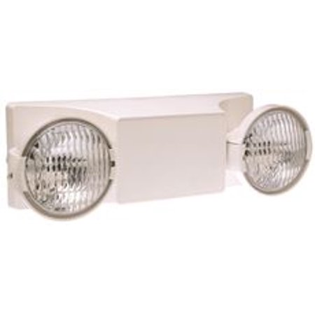 Dual-Lite Ez-2 Emergency Lighting, Damp Location Listed, 2 Fully Adjustable Lamps