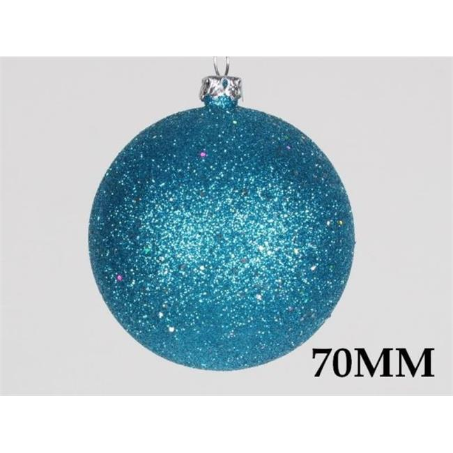 Queens of Christmas 70mm Ball Ornament with Wire - Pack of 12