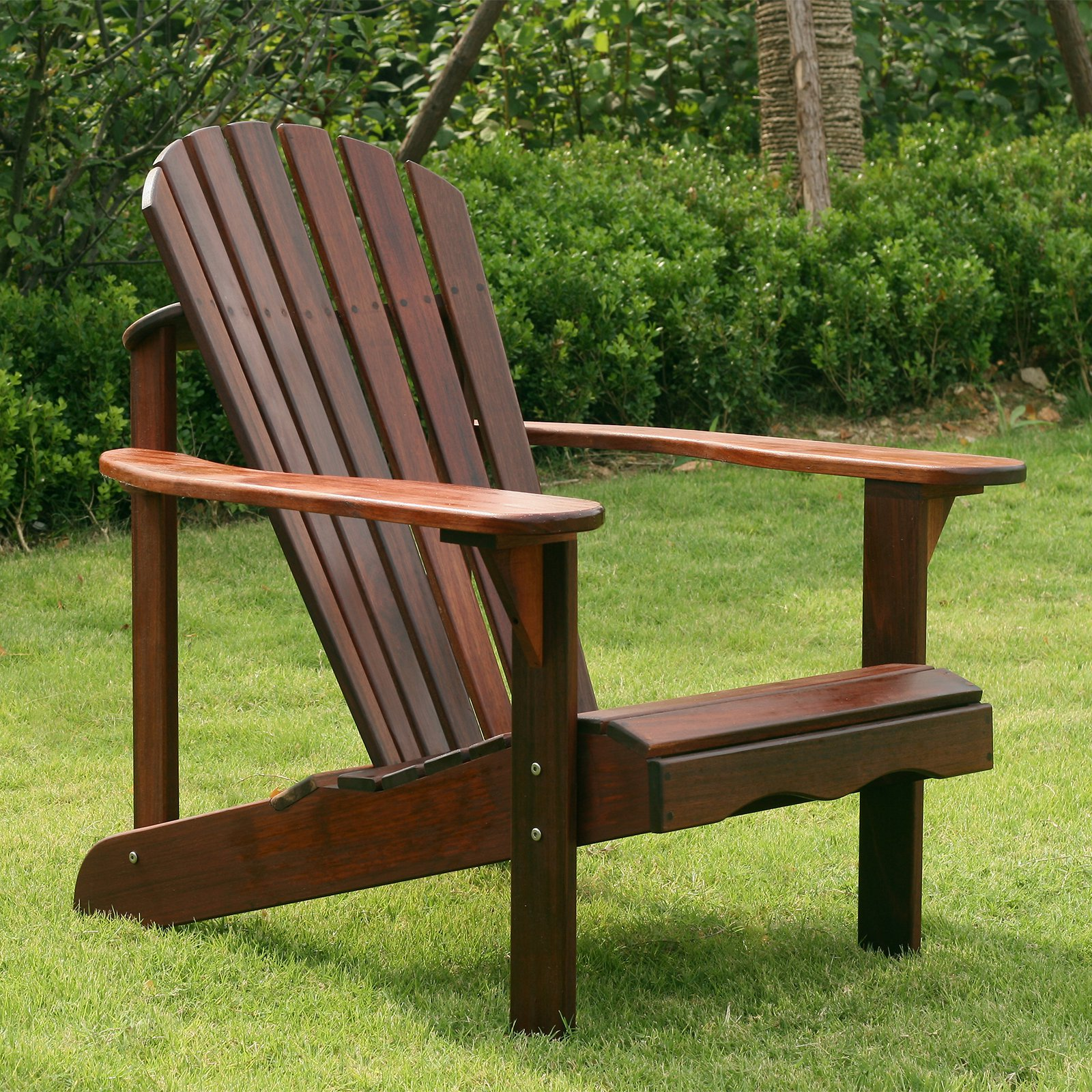 Belham Living Richmond Curveback Shorea Wood Deluxe Adirondack Chair