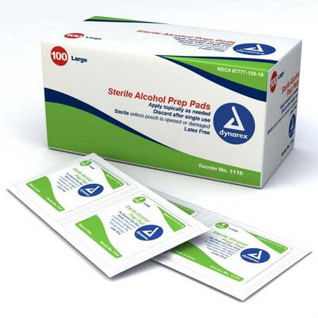 Dynarex Alcohol Prep Pad Medium (100/Pack) (Dynarex Alcohol Prep Pads)