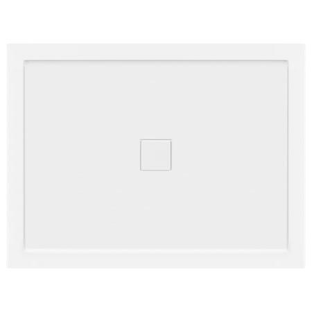 LessCare 48 x 36 Right Double Threshold Shower Pan Base Wall Corner Center Drain Fiberglass Shower Pan