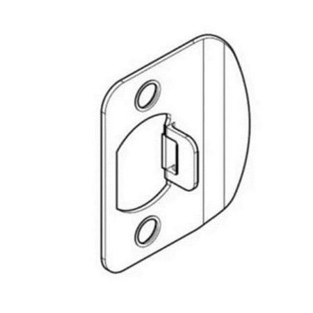 - Baldwin Reserve 8BR0701001 Single Cylinder Handleset Thick Door Kit Lifetime Brass Finish