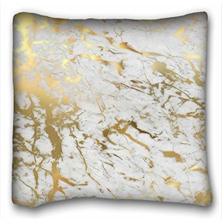 WinHome Uniquetype Fashion Pillowcases Gold Marble Inspired By The Beauty Of Marble Style Nice Pillow Cover Bedding Set Pillow Cases Sofa Size 18x18 Inches Two Side