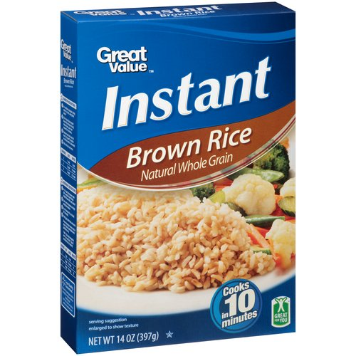 Great Value Instant Brown Rice 14oz