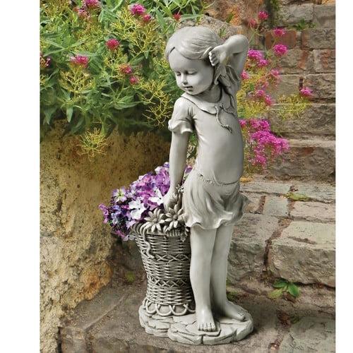 Design Toscano Frances the Flower Girl Statue by Design Toscano